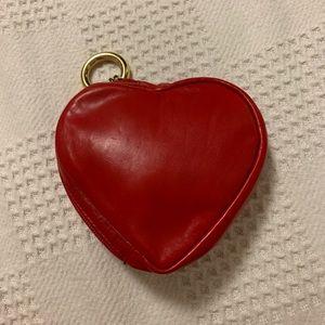Genuine leather heart mini purse/wallet